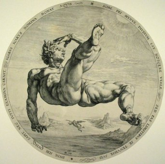 Icare, 1588, Hendrik Goltzius